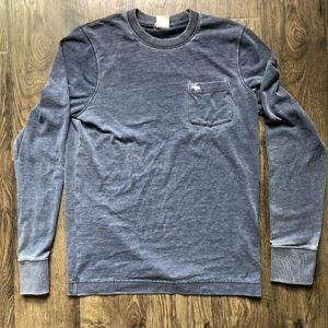 Navy/Grey Abercrombie & Fitch Long Sleeve Tee